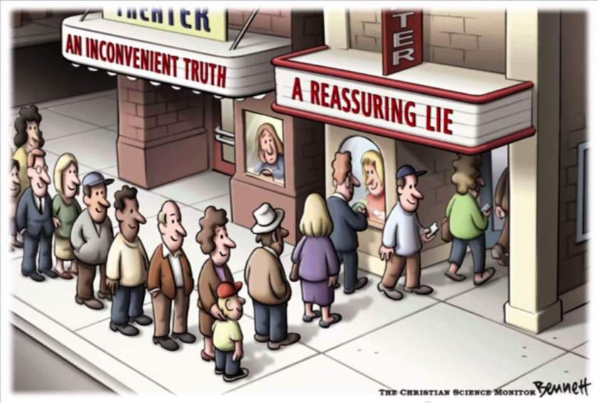 An Inconvenient Truth vs. A Reassuring Lie