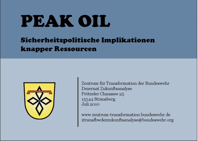 German Military - Peak Oil Study - 2010