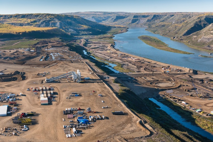 Site C Dam Contruction aerial.